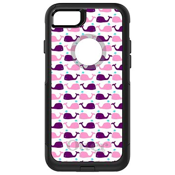 DistinctInk™ OtterBox Commuter Series Case for Apple iPhone or Samsung Galaxy - Purple Pink Cartoon Whales