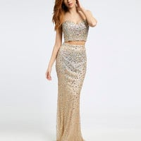 Jovani Prom Beige Dress 20641 - Prom Dresses