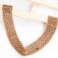 Exquisite Elegant Style Solid Color Rhinestone Embellished Women's Necklace