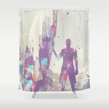 Explorers III Shower Curtain by HappyMelvin | Society6