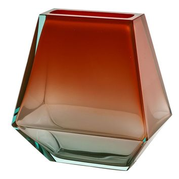 City Crystal Vase Topaz & Aqua