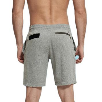 Casual Jogger Cotton Shorts with Zippered Pockets