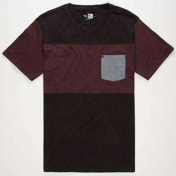 Rip Curl Move On Mens Pocket Tee Black  In Sizes
