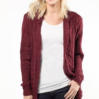 Cable Knit Edge Cardi