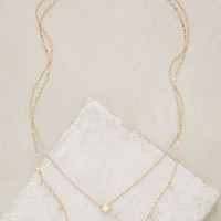 Poemas Layer Necklace by Anthropologie in Gold Size: One Size Necklaces