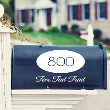 Oval Mailbox Decal