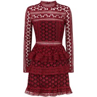 Self-Portrait Guipure Star Dress | Harrods.com