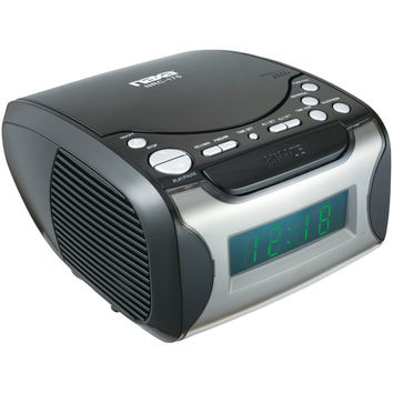 NAXA Digital Alarm Clock Radio & CD Player NRC175 NRC175 840005005309