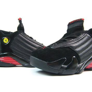 AIR JORDAN 14 (BLACK / RED - LAST SHOTS)