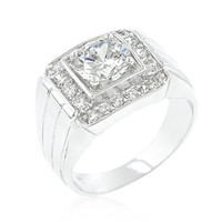 Pave Mens Cubic Zirconia Ring