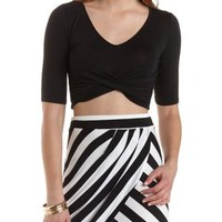 Ruched & Twisted Crop Top by Charlotte Russe