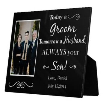 Personalized Today A Groom Tomorrow A Husband Always Your Son Picture Frame