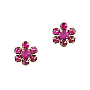 SIENA STUDS IN RUBY