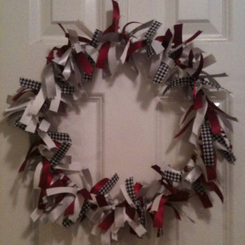 SALE Alabama Ribbon Wreath - Roll Tide