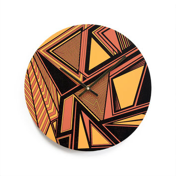 Fiery Wingspan Clock