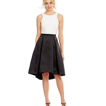 Xscape Two-Tone Fit-and-Flare Dress | Dillards