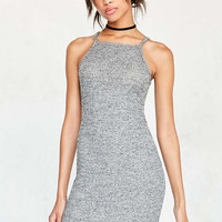 Silence + Noise Cozy Rib Square-Neck Bodycon Midi Dress - Urban Outfitters