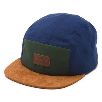 Vans Davis 5 Panel Hat (Pine/Peacoat)