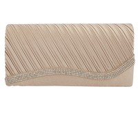 Shop Prima Donna - Basel Crystal Wave Clutch Beige