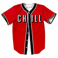 FLIX AND CHILL BUTTON UP T-SHIRT
