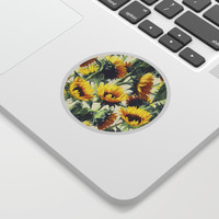 Sunflowers Forever Sticker by micklyn