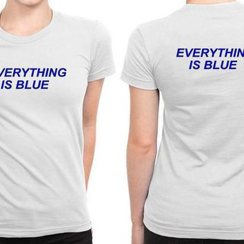 Halsey Everything Is Blue B 2 Sided Womens T Shirt