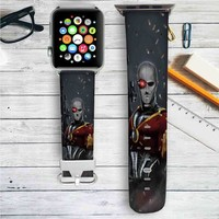 Deadshot DC Comics Custom Apple Watch Band Leather Strap Wrist Band Replacement 38mm 42mm