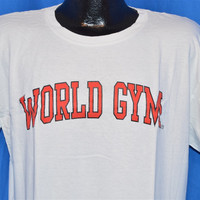 90s World Gym Workout Weight Lifting t-shirt Large