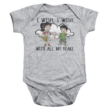 Dragon Tales I Wish With All My Heart Athletic Heather One-Piece Body Suit