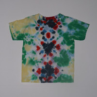 Tie Dye Shirt - Geometric Diamonds - Choose Any Size (adult / youth), Style Shirt, and Colors!