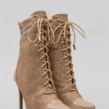 Point To These Jeweled Lace-Up Booties