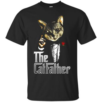The CatFather Funny Parody Cat Lover Daddy T Shirt