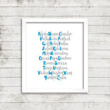 CUSTOM Phonetic Alphabet Print