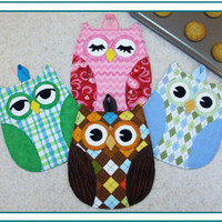 Pattern, Owl Hot Pads, Trivets,  Hot Who