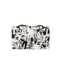 Chanel COCO Print Mademoiselle Special Edition Black & White 25cm