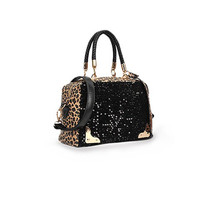 Leopard Print Tote Bag With Sequins