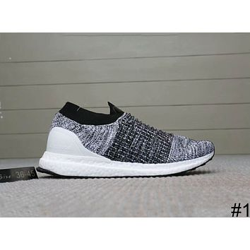 ADIDAS ULTRABOOST LACELESS Elastic Knit Socks Shoes Running Shoes F-A0-HXYDXPF #1