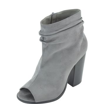 Sarah Slouch Peep Toe Bootie