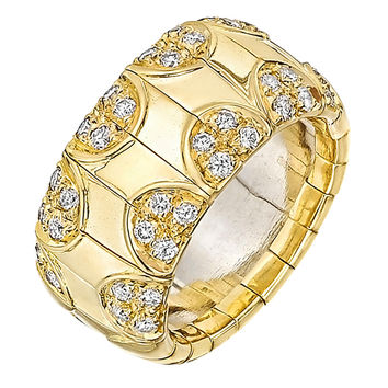 Boucheron Diamond Gold Wide Band Ring