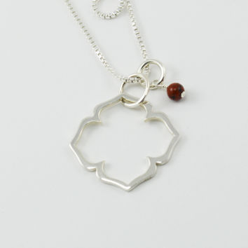 Root Chakra Necklace in Sterling Silver