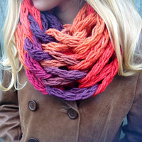 Dash Sunset Arm Knit Cowl, Knit Cowl,  Arm Knit Scarf