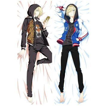 Anime Yuri On Ice Decoration pillow Covers Yuri Plisetsky wo-sides Printed Pillow Cases Hugging Body Bedding Pillowcases Covers