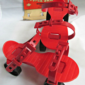 Lapin Products Plastic Rola-Skates 1950s Vintage Childrens Toy Beginner Youngster