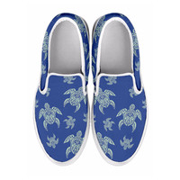 Men's Slip On Tribal Turtles Shoes