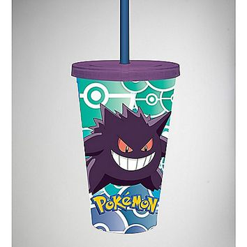 Pokemon Gengar Cup with Straw - Spencer's