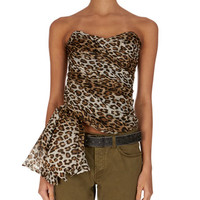Redemption Strapless Asymmetric Leopard-Print Blouse and Matching Items
