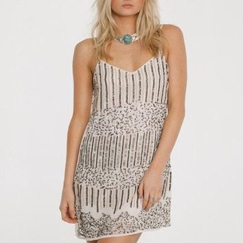 Mystic Moon Dress - Silver