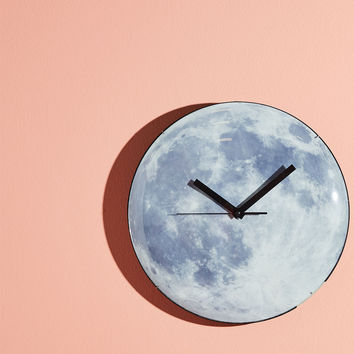 Beam of Moonlight Glow-in-the-Dark Wall Clock