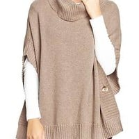 Women's Funnel-Neck Poncho Sweaters