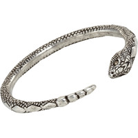Pamela Love Antique Silver & Diamond Serpent Bangle